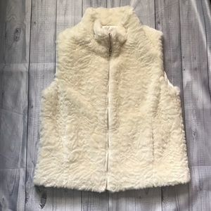 Cold water Creek Faux Fur Vest